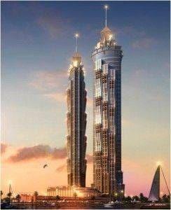 Marriot Dubaï facade