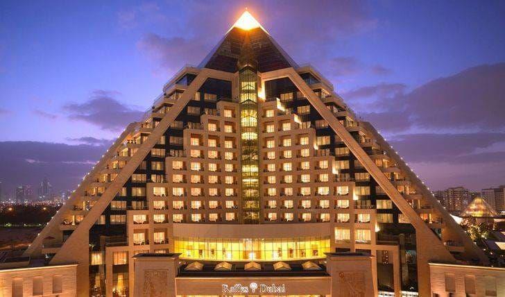 Facade Raffles Dubai Laurent Delporte