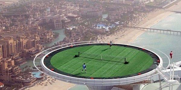 terrain de tennis burj al arab laurent delporte