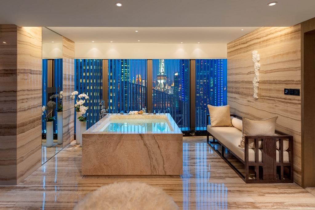 PRESIDENTIAL SUITE BATHROOM Mandarin Oriental Shangai